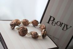 Roses and Pearls Bracelet by BlackPearlCouture on Etsy