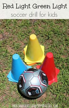 red light green light soccer drill for kids