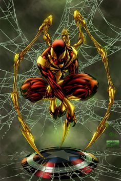 Iron Spider - colors by ZethKeeper on DeviantArt - Visit to grab an amazing super hero shirt now on sale! Marvel Comics, Heros Comics, Marvel Heroes, Marvel Avengers, Ms Marvel, Captain Marvel, Captain America, Spiderman Art, Amazing Spiderman