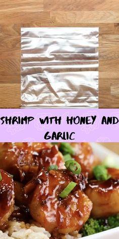 Ingredients in order: Recipes With Soy Sauce, Honey And Soy Sauce, Shrimp Recipes Easy, Asian Recipes, Garlic Honey Shrimp, Shrimp Marinade, Dinner Ideas, Dinner Recipes, Healthy Foods