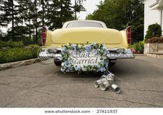 Pinterest Country Wedding Ideas | just married cans | country wedding decorations