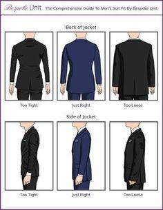 Should A Suit Jacket Fit Correct back and side fit for jackets Mens Suit Fit, Grey Suit Men, Mens Suits, Mens Style Guide, Men Style Tips, Suit Fit Guide, Style Costume Homme, Large Men Fashion, Mode Costume