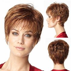Cheap-Fashion-Reddish-Brown-Short-Cut-Wigs-Heat-Resistant-Synthetic-Brown-Short-Straight-Layered-African-American.jpg 750×750 pixels