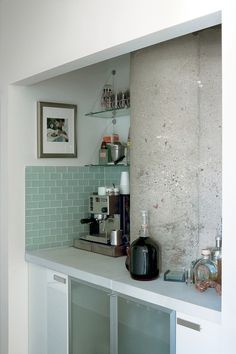 I would really like this in my kitchen.  Glass tile backsplash