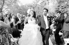 Lin Manuel Miranda walking down the aisle. Best wedding picture EVER TAKEN