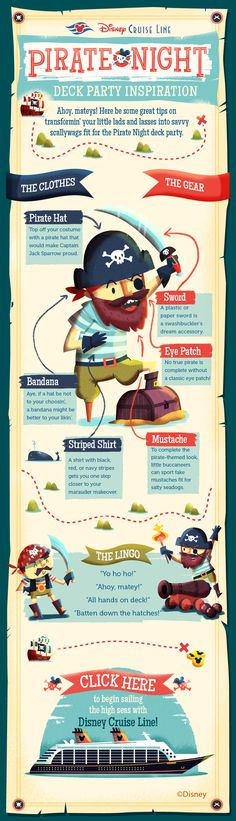 If ye mateys need some inspiration for Pirate Night, check out these transformation tips!
