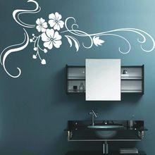 Livraison gratuite belle grande fleur stickers muraux home decor pour tv chambre pvc stickers muraux accueil autocollant taille 200 * 100 cm tx-289(China (Mainland))