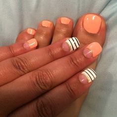 French Manicure with natural nails with a gel overlay #gelnails #naturalnails #pedicure #manicure