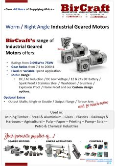 Contact BirCraft today for your Industrial Geared Motor needs today! Linear Actuator, Chemical Industry, Ac Dc, Custom Design, Industrial, Products, Corona, Industrial Music, Gadget