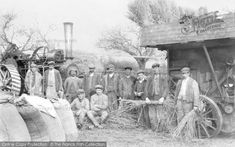 Llanelidan, Steam Threshing Gang Part of The Francis Frith Collection of historic photographs of Britain. Free to browse online today. Your nostalgic journey has begun. Vintage Photos, Countryside, Britain, Farming, Nostalgia, Photographs, Journey, Painting, History