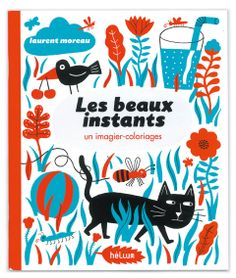 Very nice cover in red and blue for a colouring book! (Editions Hélium in France)