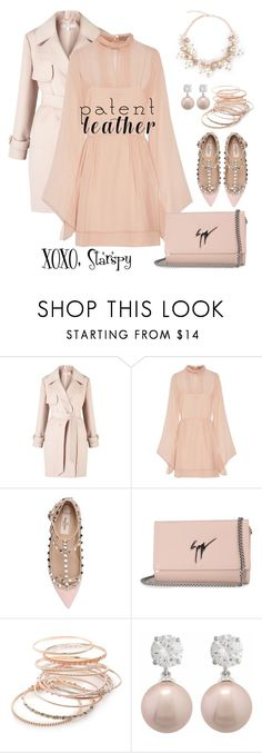 """""""Patent Leather Peach"""" by starspy ❤ liked on Polyvore featuring Miss Selfridge, Emilio Pucci, Valentino, Giuseppe Zanotti, Red Camel and Jankuo"""