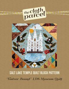 Salt Lake Temple Quilt Block Pattern