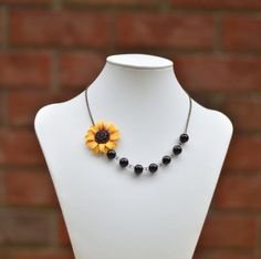 FREE EARRINGS Red Wine and Yellow Sunflower by Diaszabo on Etsy