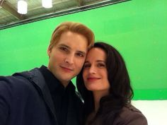 The Twilight Saga: Breaking Dawn Part Two filming - Peter and Elizabeth (aka Carlisle and Esme)