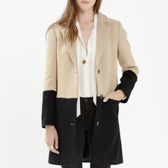 Rank & Style's Talking Top Tens - Sally & Molly Miller's Ten Essentials: Madewell Colorblock Streetcar Coat #rankandstyle