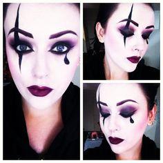 Harlequin makeup #illamasqua #mac #makeup #halloween #clown #harlequin by nykkol7 http://instagr.am/p/QG4RhvoaBG/