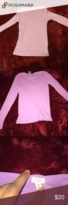 J crew purple long sleeve v neck size small J crew purple long sleeve v neck minor wear J. Crew Tops Sweatshirts & Hoodies