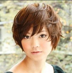 Short Hairstyles for Round Faces 2015 Asian