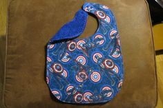 Child bib waterproof lining Captain America Special Needs bib Flannel Terry Cloth Plastic snaps ProCare lining Reversible Neutral Child Bib by NammersCrafts on Etsy