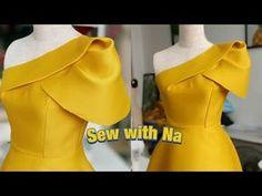 Fashion Sewing, Diy Fashion, Ideias Fashion, Skirt Patterns Sewing, Clothing Patterns, Sewing Collars, Girls Dresses Sewing, Sleeves Designs For Dresses, Pattern Fashion