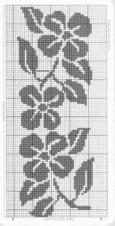Cross Stitch Borders, Cross Stitch Rose, Cross Stitch Designs, Cross Stitching, Cross Stitch Embroidery, Cross Stitch Patterns, Filet Crochet Charts, Crochet Cross, Crochet Diagram