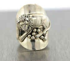 Authentic Carol Felley Sterling Silver  Lion Ring Size 7 And 13.5g