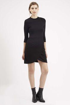 Wrap Front Bodycon Dress - Topshop