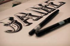 Self Branding: Hand drawn type. by James Worton, via Behance