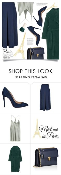 """Mon Paris"" by marina-volaric ❤ liked on Polyvore featuring Christian Louboutin, TIBI, T By Alexander Wang, Wall Pops!, Mat, Yves Saint Laurent and fallgetaway"