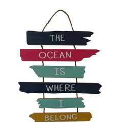 Escape To Paradise Wall Decor-Ocean Is Where I Belong