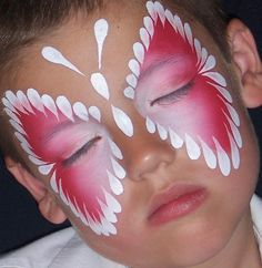 Pink & White Butterfly... #Halloween #Halloween make-up
