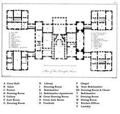 18th Century house layout   The Bones of Holkham Hall   Making History Tart & Titillating