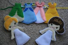 Very Pretty Princess Felt Paper Doll Sets by KungFuCupcake on Etsy