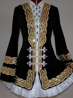 BEAUTIFUL KDSF Designs Irish Solo Dance Dress. So elegant. It's Emma's beautiful dress!