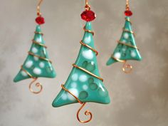 Diy clay ornaments christmas ideas pinterest clay ornaments christmas tree ornament fused glass party favor handmade ooak green teal solutioingenieria Choice Image