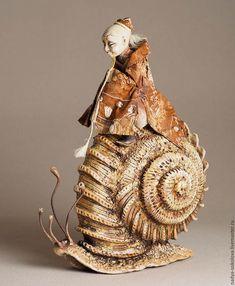 Clay Dolls, Art Dolls, Animal Sculptures, Sculpture Art, Snail Art, 3d Fantasy, Desenho Tattoo, Arte Pop, Russian Art