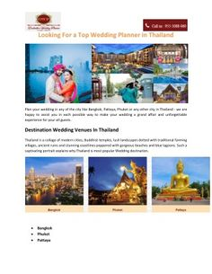 Find Destination Wedding Planner In Thailand DWP Have A Trained Team Who Able To Offers