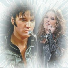 Elvis and Lisa Marie