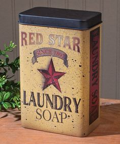 This Red Star Laundry Soap Tin is perfect! #zulilyfinds