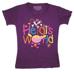 T-Shirt Heidi's World / T-Shirt Heidi's world The beautiful Heidi T-shirt will have every girl. Heidi is a great thing for them. The quality is exactly that what parents want for there children.