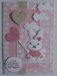 Suzanna: Tickets showroom the Treasury - Suzanna: Tickets showroom the Treasury - Marianne Design Cards, Kids Birthday Cards, New Baby Cards, Baby Shower Cards, Showroom, Card Sketches, Baby Design, New Baby Products, Bunny