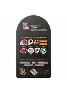Washington Redskins Shrinky Dinks