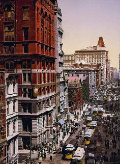 ☼ #history 1900 New York City in color
