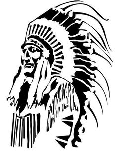 red man American indian, usa stencil mylar 125 microns by on Etsy Native Art, Native American Art, American Indians, Glass Engraving, American Tattoos, Wood Burning Patterns, Silhouette Art, Scroll Saw Patterns, Stencil Art