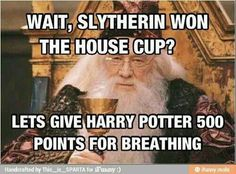 Always pick on the Slytherins… We're are not that bad…
