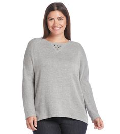 Marc New York Performance Plus Size High Low Sweatshirt