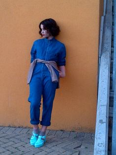 Billie JD Porter in APC and JuJu Jelly Shoes styled by Stylist Krishnan #JellyShoesVintage