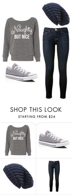 """""""Outfit Idea by Polyvore Remix"""" by polyvore-remix ❤ liked on Polyvore featuring Converse, Phase 3 and Frame Denim"""