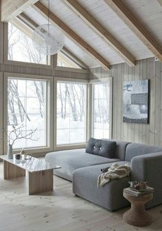 Wonderfull Chalet style of interior decorating Living Room Decor Cozy, New Living Room, Home And Living, Living Spaces, Danish Living Room, Interior House Colors, Cabin Interiors, Style At Home, Home Fashion